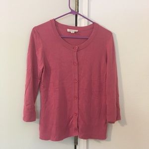 Coldwater Creek Pink Silk/Cotton Cardigan - Small
